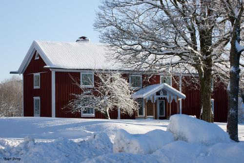 Mangårdsbyggnaden vintertid